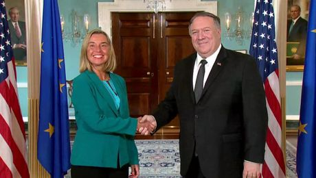 Meeting with European Union High Representative Federica Mogherini