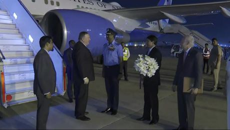 Secretary Pompeo arrives in India.