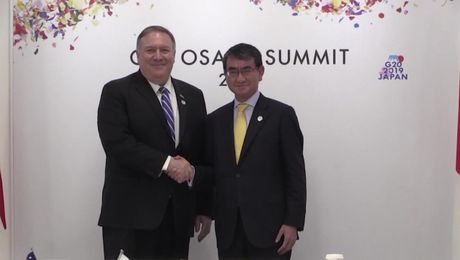 Secretary Pompeo meets  with Japanese Foreign Minister Taro Kono