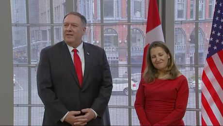 Secretary Pompeo meets with Canadian Foreign Minister Freeland.