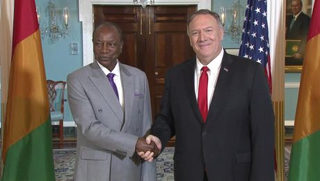 Secretary Pompeo meets with Guinean President Alpha Conde