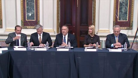 Secretary Pompeo chairs the President's Interagency Task Force to Monitor and Combat Trafficking in Persons (PITF) Annual Meeting