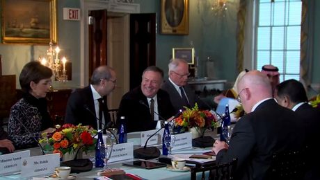 Secretary Pompeo meets with Syria Small Group Ministerial participants