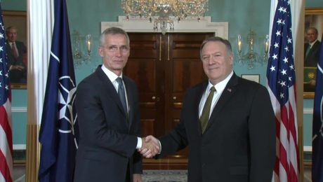 Secretary Pompeo meets with NATO Secretary General Jens Stoltenberg