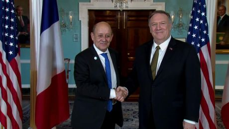Secretary Pompeo meets with French Foreign Minister Jean-Yves Le Drian