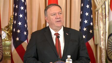 Secretary Pompeo Gives Remarks at U.S.-India 2+2 Ministerial Dialogue