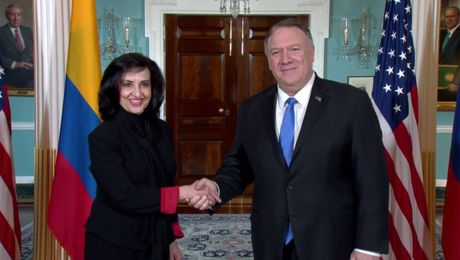 Secretary Pompeo meets with Colombian Foreign Minister Claudia Blum