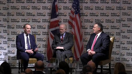Secretary Pompeo public discussion event with United Kingdom Foreign Secretary Raab
