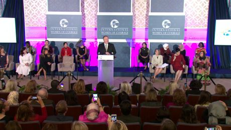 Secretary Pompeo hosts the 2020 Annual International Women of Courage Awards Ceremony, at the Department of State.