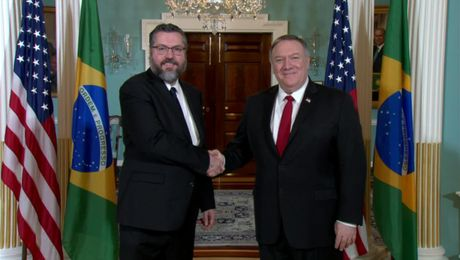 March 11, 2020 Secretary Pompeo meets with Brazilian Foreign Minister Ernesto Araújo