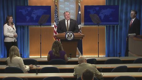 Secretary Pompeo's remarks on the Release of the 2019 International Religious Freedom Report, at the Department of State - With Amb Brownback.