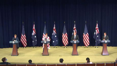 Secretary Pompeo Holds a Joint Press Availability at AUSMIN