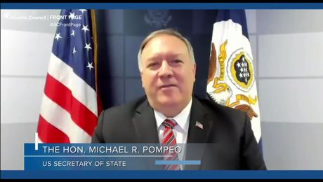 Secretary Pompeo Participates in a Conversation with Atlantic Council President Kempe