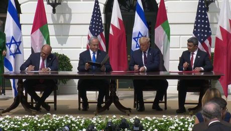 President Trump Participates in the Abraham Accords Signing Ceremony