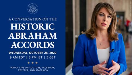 State Department Spokesperson Ortagus Hosts a Live Conversation on the Abraham Accords.