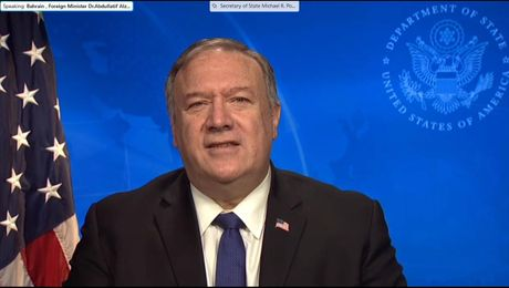 Secretary Pompeo's virtual remarks at the U.S.-Bahrain Strategic Dialogue.