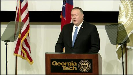 Secretary of State Michael R. Pompeo delivers remarks at Georgia Institute of Technology in Atlanta, Georgia