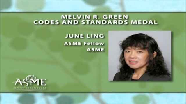 June Ling: Melvin R. Green Codes and Standards Medal