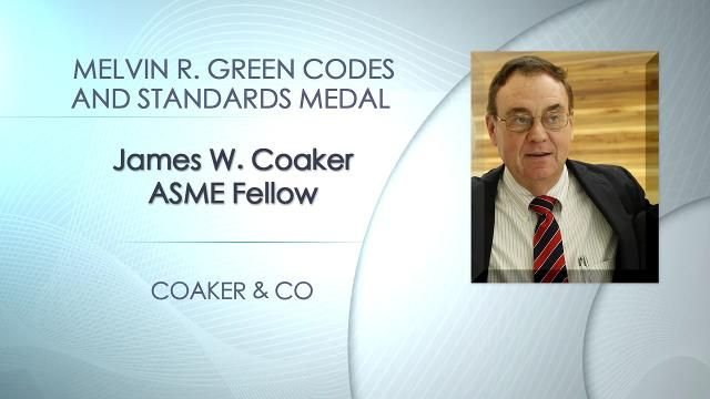 James W. Coaker, Melvin R. Green Codes and Standards Medal, 2014