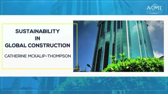 Sustainability in Global Construction