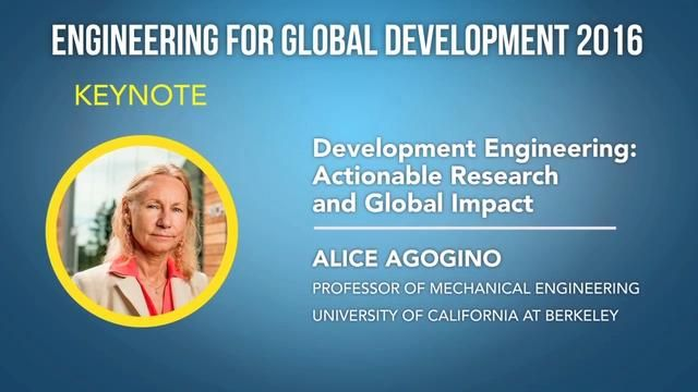 Development Engineering:  Actionable Research and Global Impact