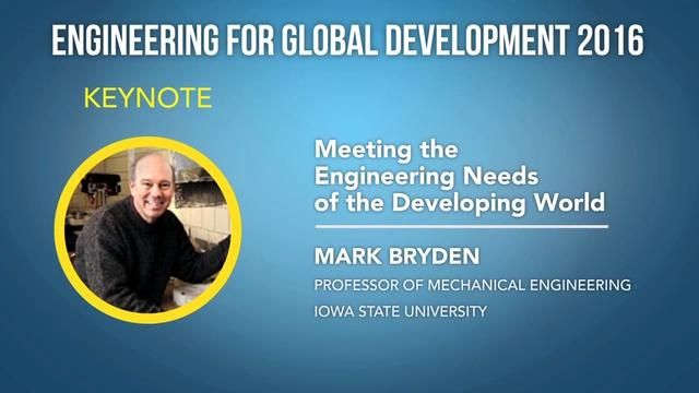 Meeting the Engineering Needs of the Developing World