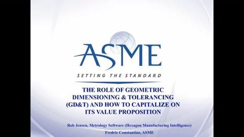 The Role of Geometric Dimensioning & Tolerancing