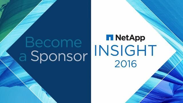 Become a Sponsor for NetApp Insight 2016!