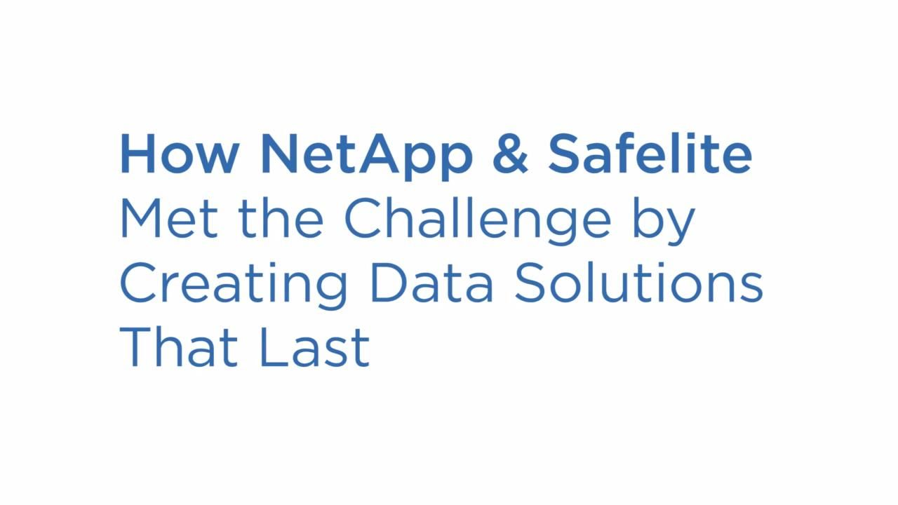 NetApp Helps Safelite Keep and Grow Their Business