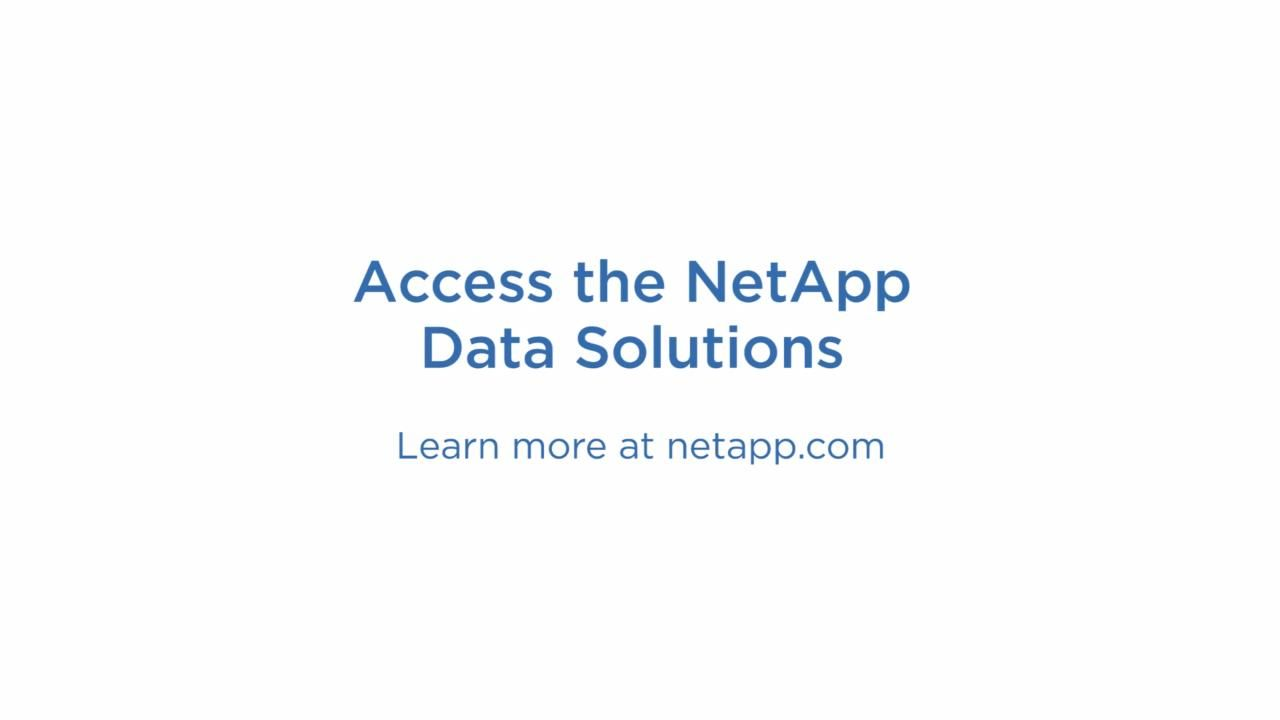 How the NetApp Data Fabric Is A Necessary Tool For CDW Customers