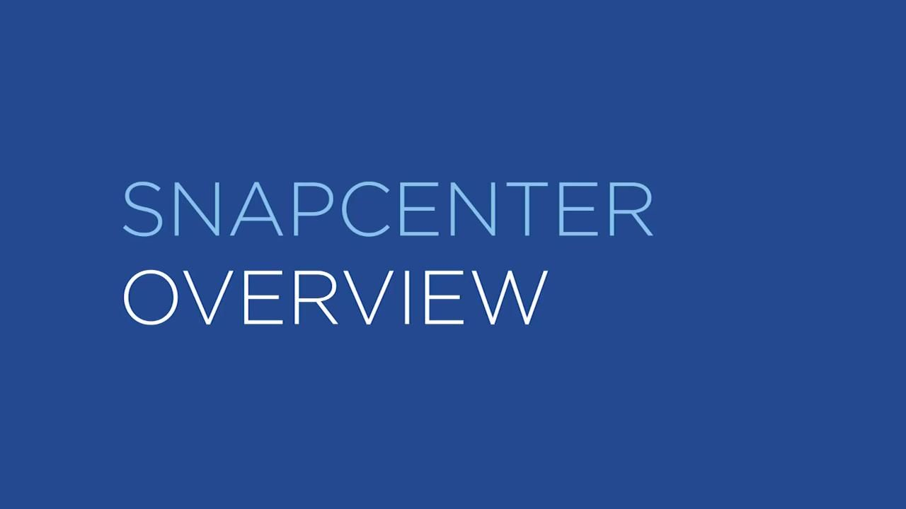 NetApp SnapCenter Backup Management Software