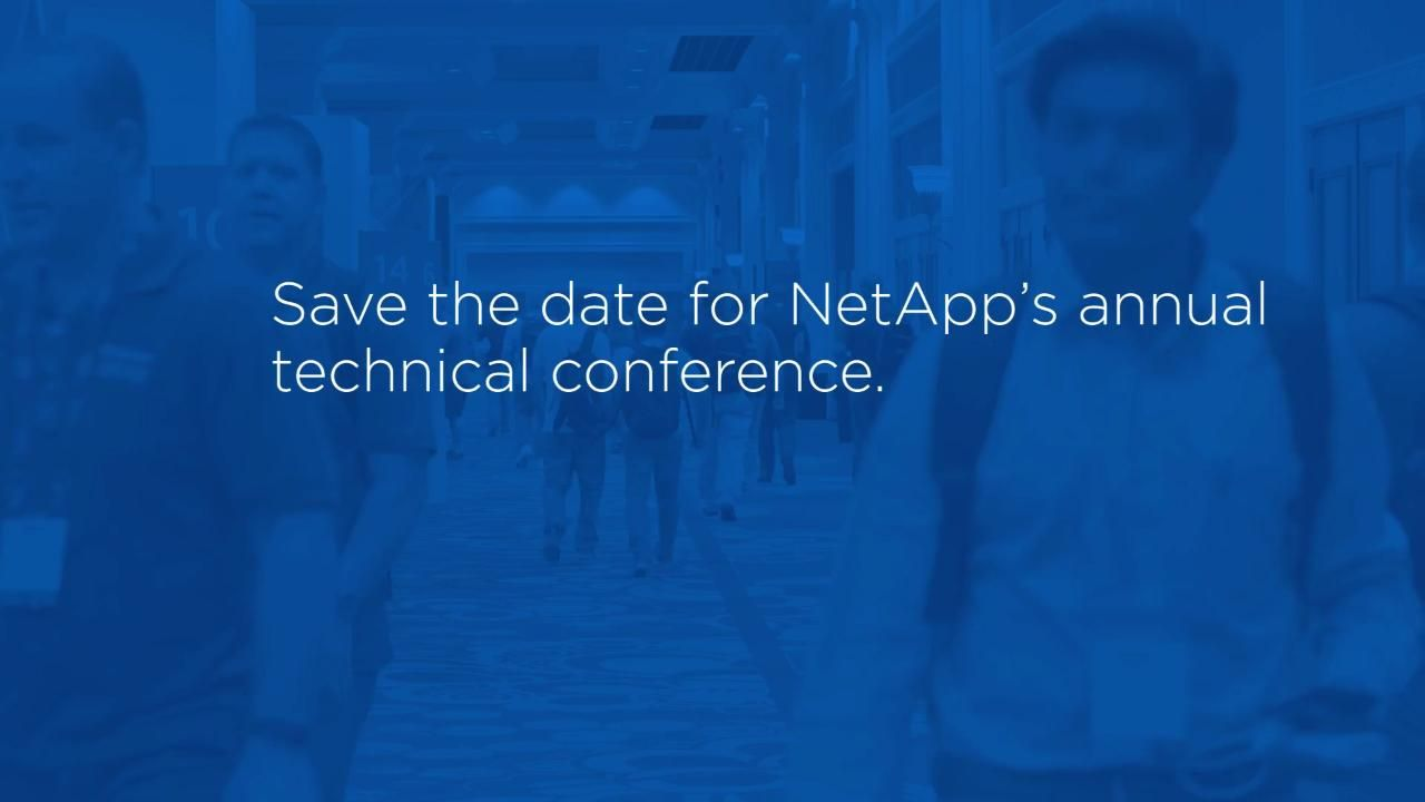 Save the Date for NetApp Insight 2018