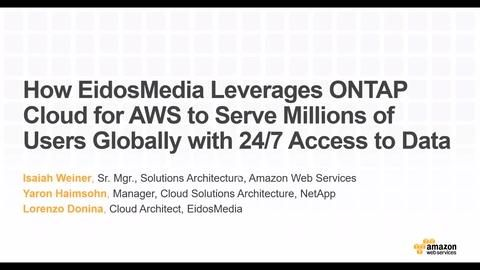 How EidosMedia Leverages ONTAP Cloud for AWS