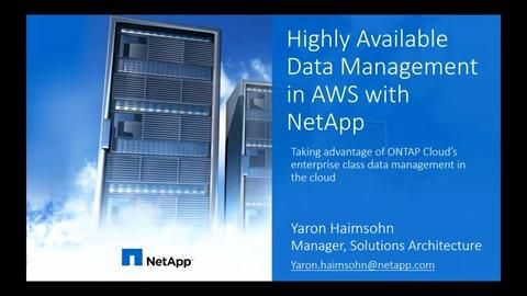 Achieving High Availability (HA) in the Cloud