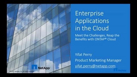 Enterprise Applications In The Cloud