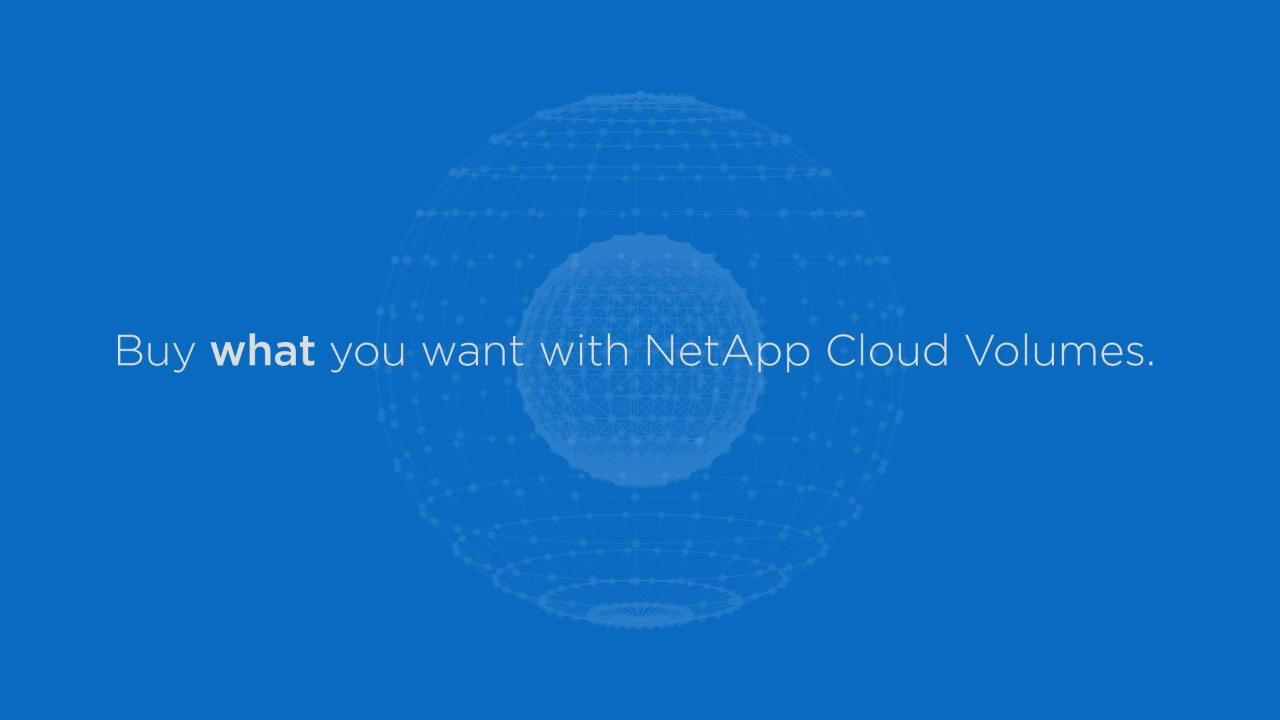 Inspire Innovation With NetApp Cloud Volumes