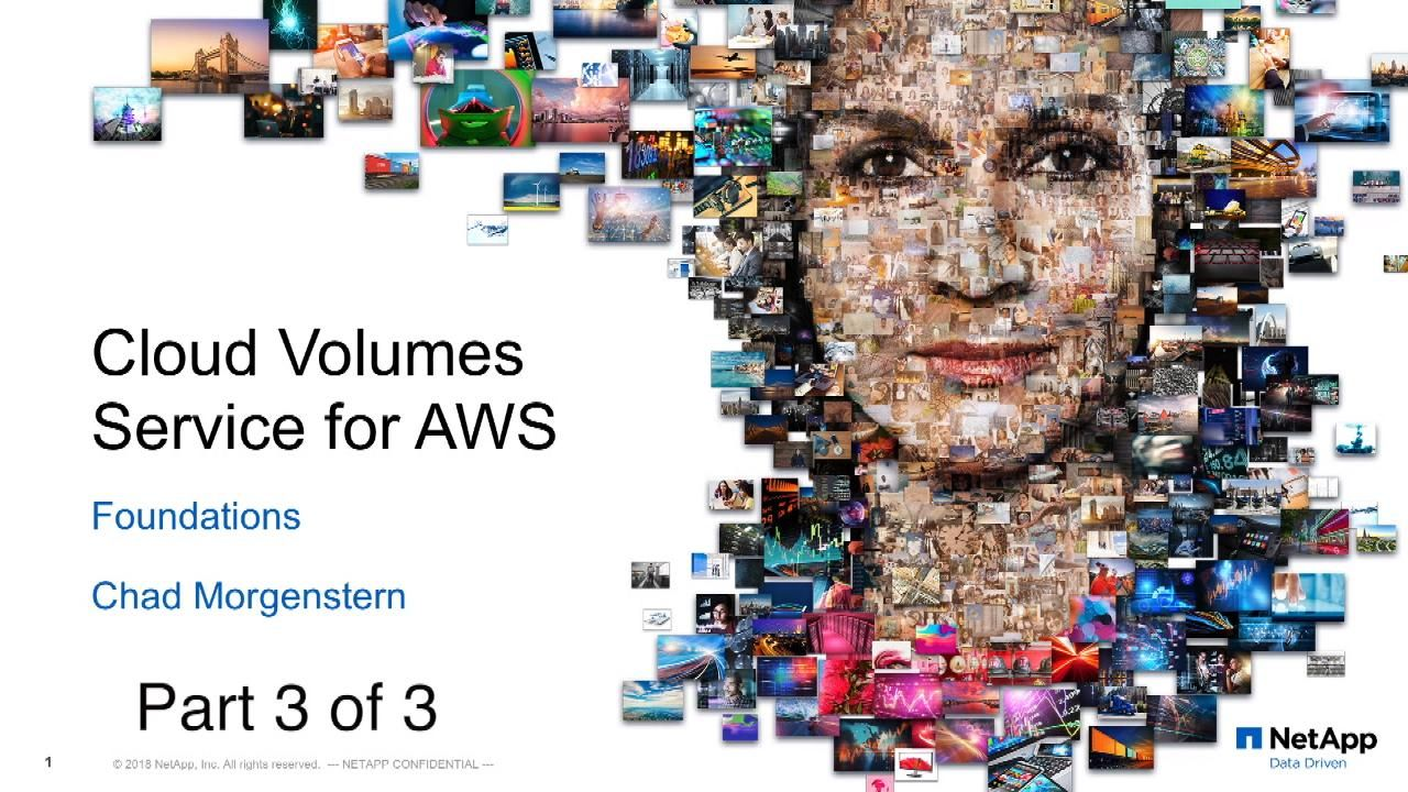 Cloud Volumes Service for AWS Foundations Part Three