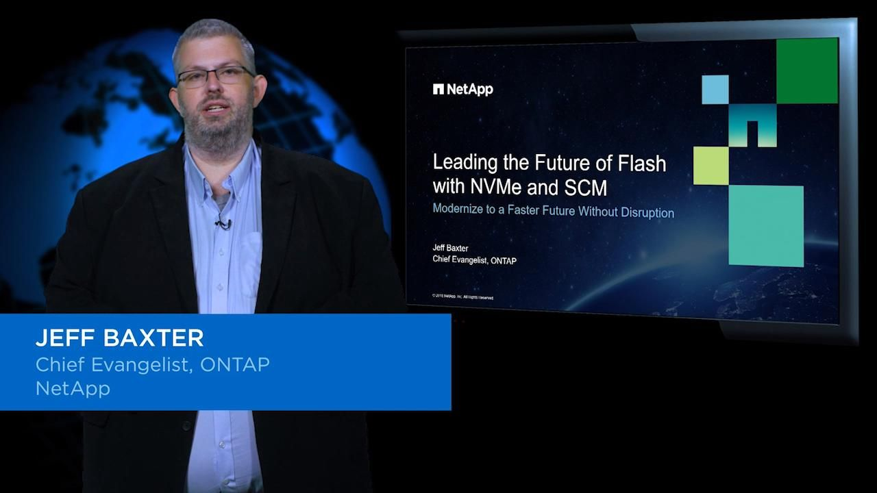 NetApp Vision for NVMe and SCM