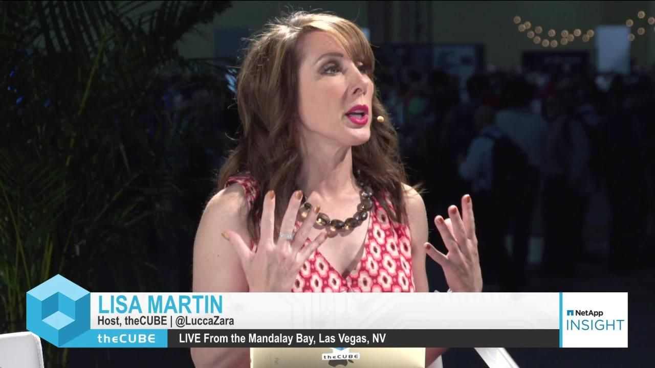 Stu Miniman and Lisa Martin from theCUBE Kickoff NetApp Insight 2018 Live from Las Vegas