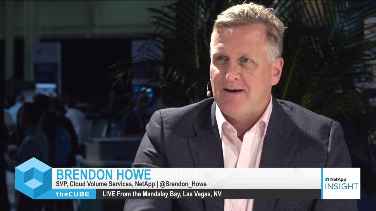 Brendon Howe Discusses NetApp Cloud Data Services