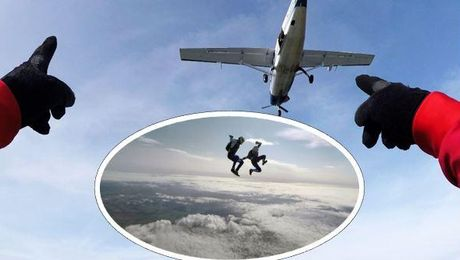 Watch These Forces Skydivers Show Off Parachute Skills Over Wiltshire