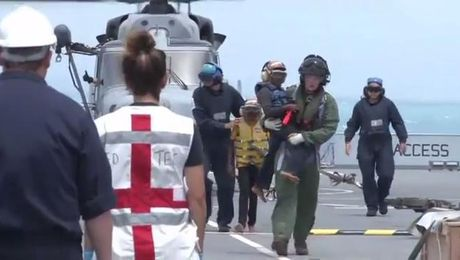 EXCLUSIVE: On Board Mounts Bay As Royal Navy Rescues Mother & Children From Hurricane Maria