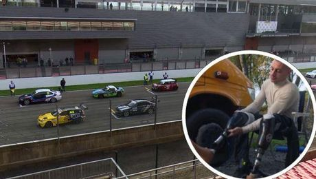 UK Amputee Veteran David Birrell Makes History At Belgian F1 Circuit