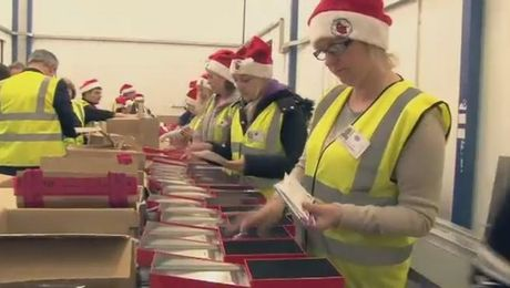 Military Elves Pack Christmas Boxes For British Troops