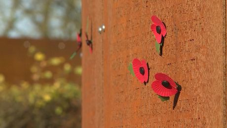 Children Lay Poppies At New International Bomber Command Centre