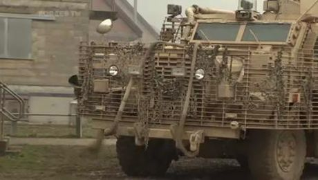 Brits & Germans Train Together On Salisbury Plain