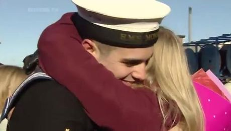HMS Monmouth Welcomed Home After 270 Days