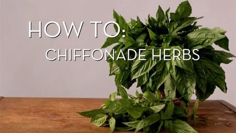 Chiffonade Cut Herbs | Cooking How To | Food Network Asia