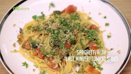 Ep 32 spaghetti with last minute tomato sauce kitchen quickies ep 32 spaghetti with last minute tomato sauce kitchen quickies asian forumfinder Images
