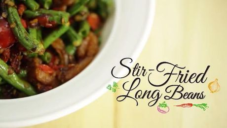Claypot chicken rice home cooked malaysia asian food channel stir fried long beans home cooked malaysia asian food channel forumfinder Image collections